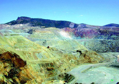 Open pit copper mine in the US