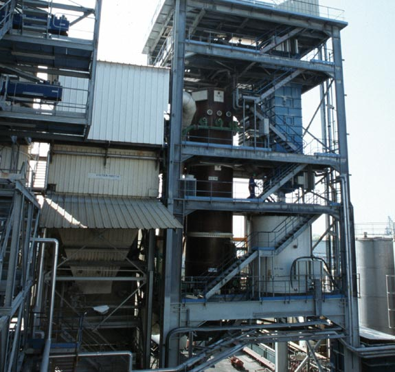 Special industrial waste treatment plant